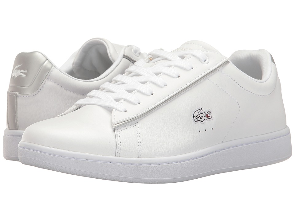 Lacoste - Carnaby Evo 217 2 (White/Light Grey) Women's Shoes