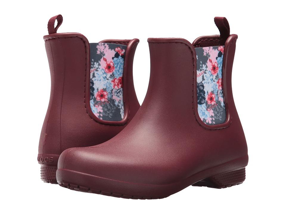 Crocs Freesail Chelsea Boot (Garnet) Women