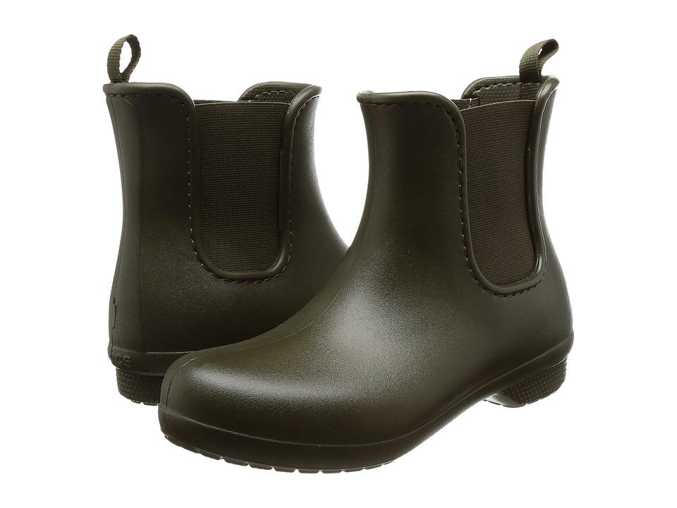 Crocs Freesail Chelsea Boot (Dark Camo Green) Women