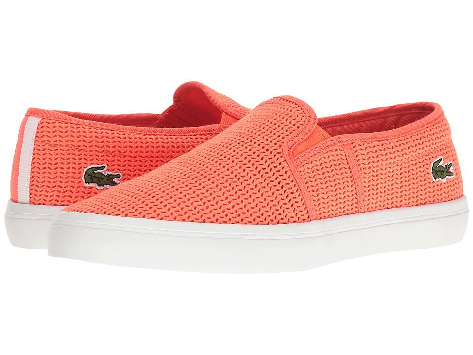 Lacoste - Gazon 217 2 (Light Orange) Women's Shoes