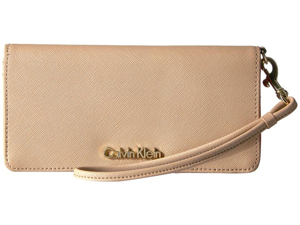 Calvin Klein - Saffiano Wallet (Nude/Pop Interior) Wallet Handbags