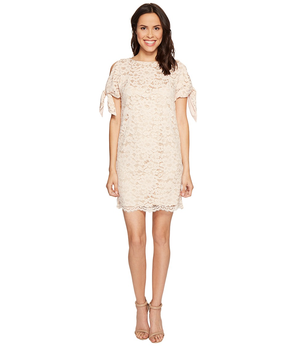 Vince Camuto - Lace Shift with Knotted Sleeves (Blush) Women's Dress