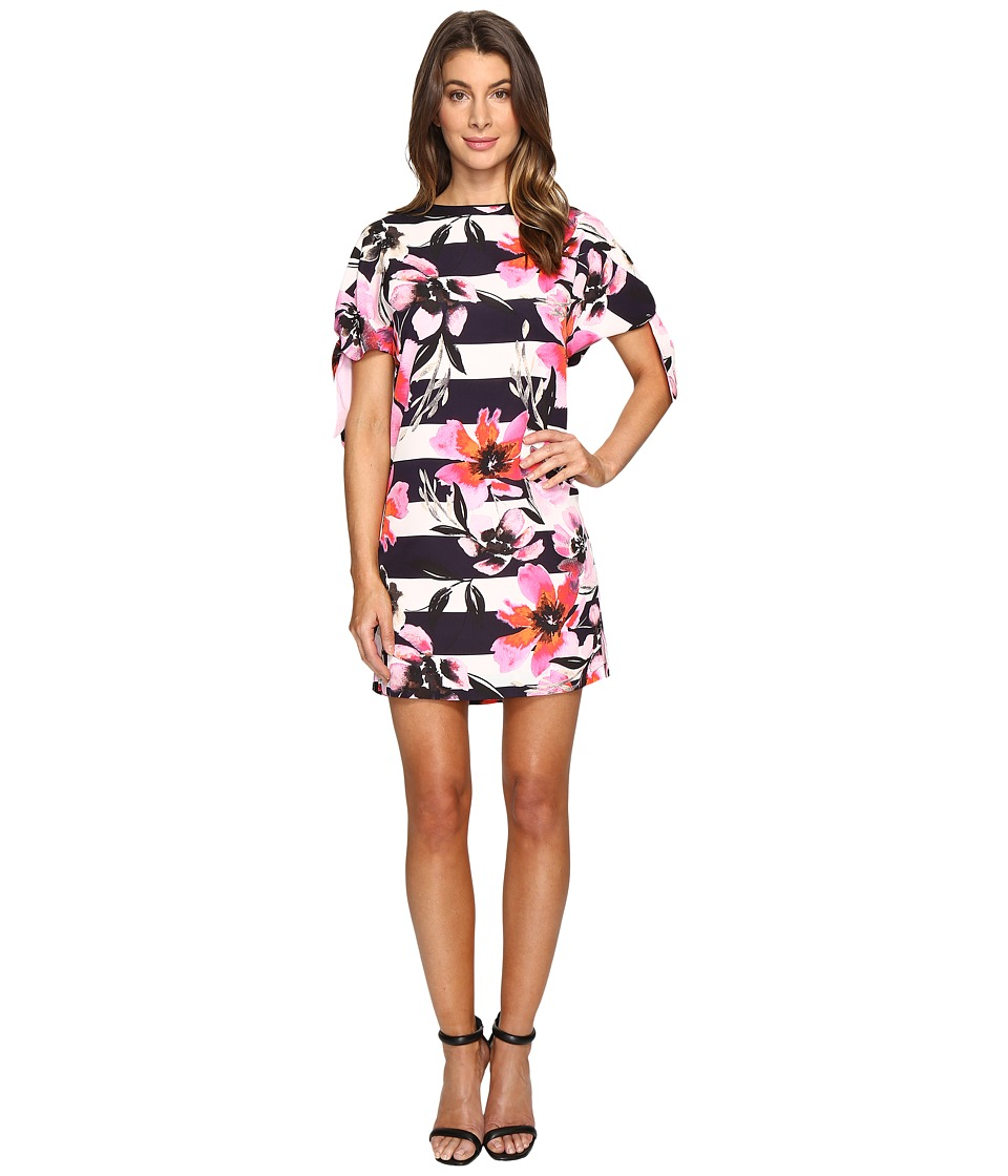 Vince Camuto - CDC Shift Dress with Knotted Sleeves (Pink Multi) Women's Dress