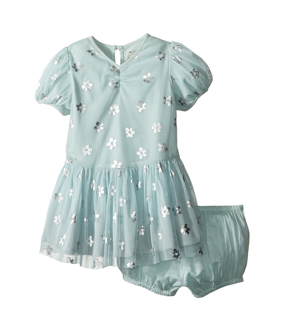 Stella McCartney Kids - Missy Daisy Print Tulle Dress (Infant) (Mint Blue) Girl's Dress