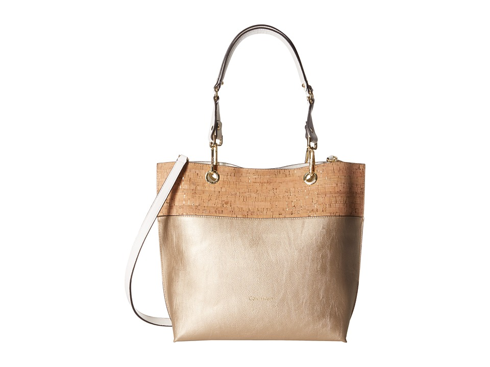 Calvin Klein - Unlined Cork Tote (Pale Gold/Cork) Tote Handbags