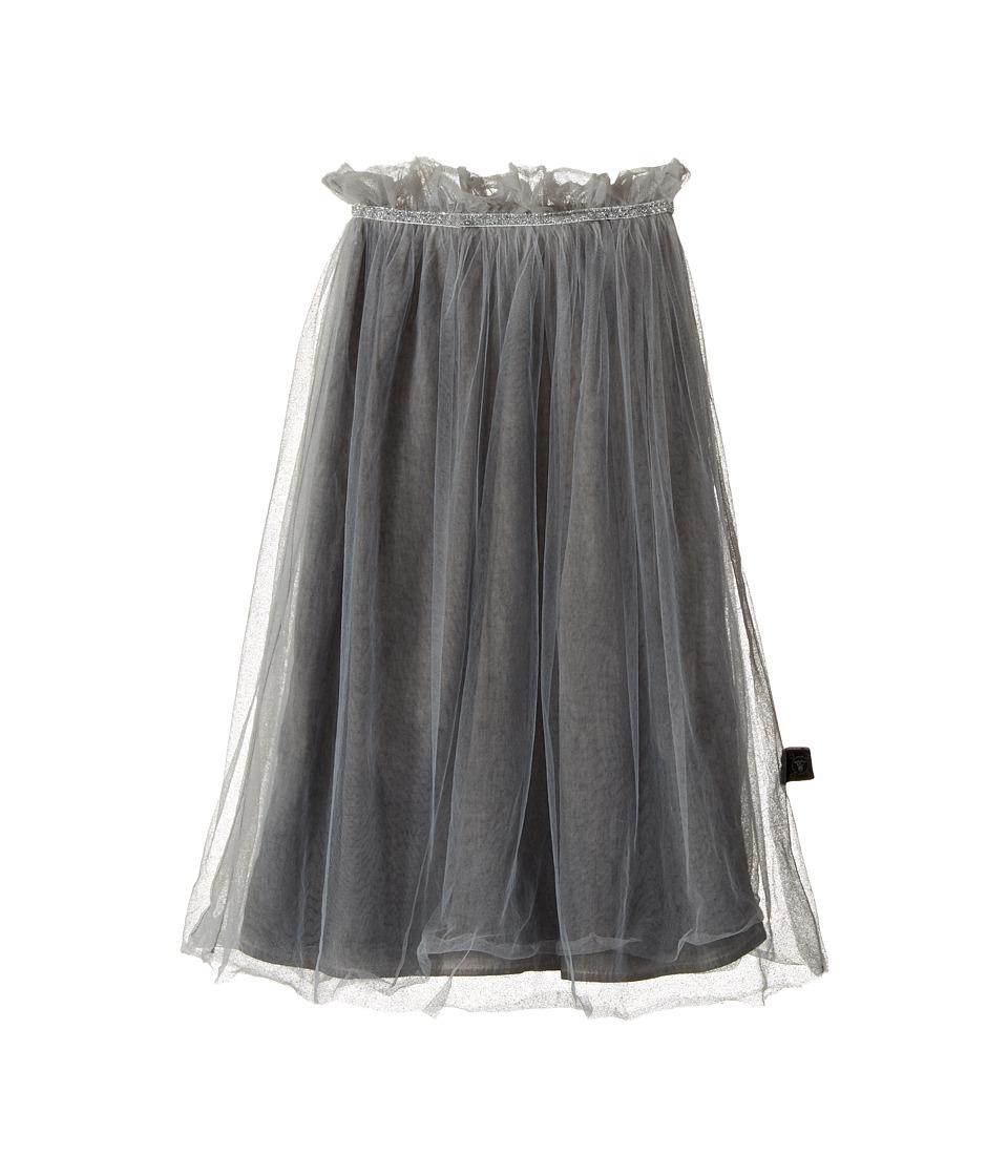 Nununu - Maxi Tulle Skirt (Little Kids/Big Kids) (Dyed Grey) Girl's Skirt