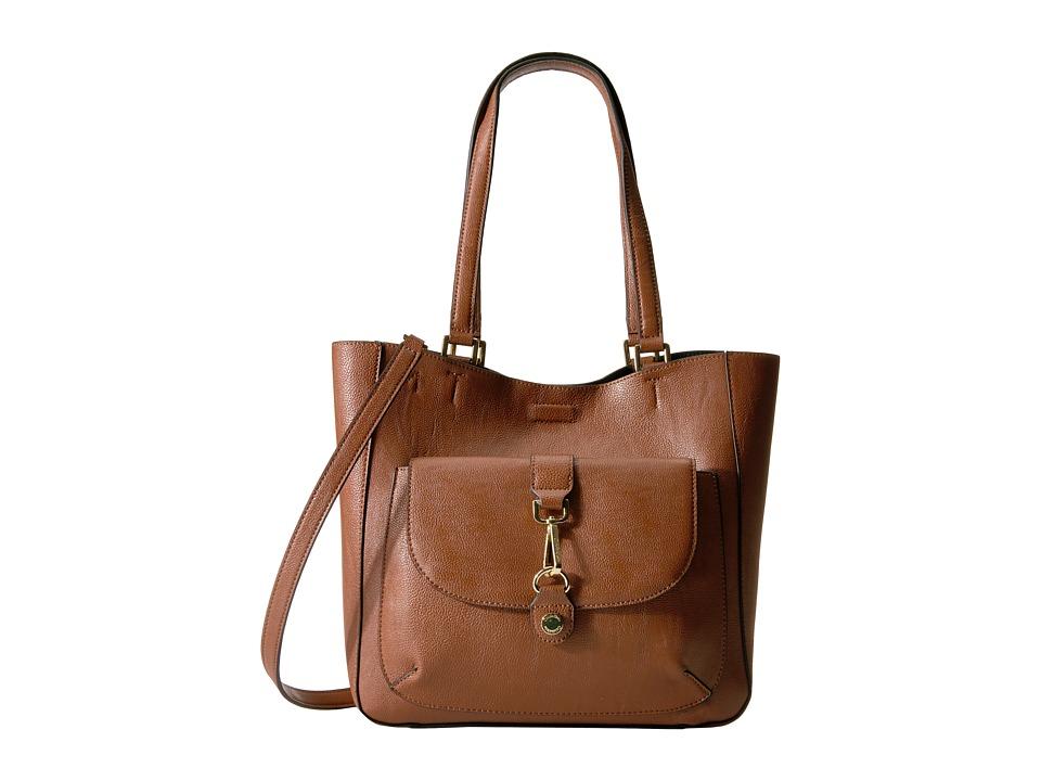 Calvin Klein - Unlined Jetlink Tote (Luggage/Black) Tote Handbags