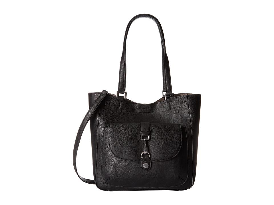 Calvin Klein - Unlined Jetlink Tote (Black/Grey) Tote Handbags