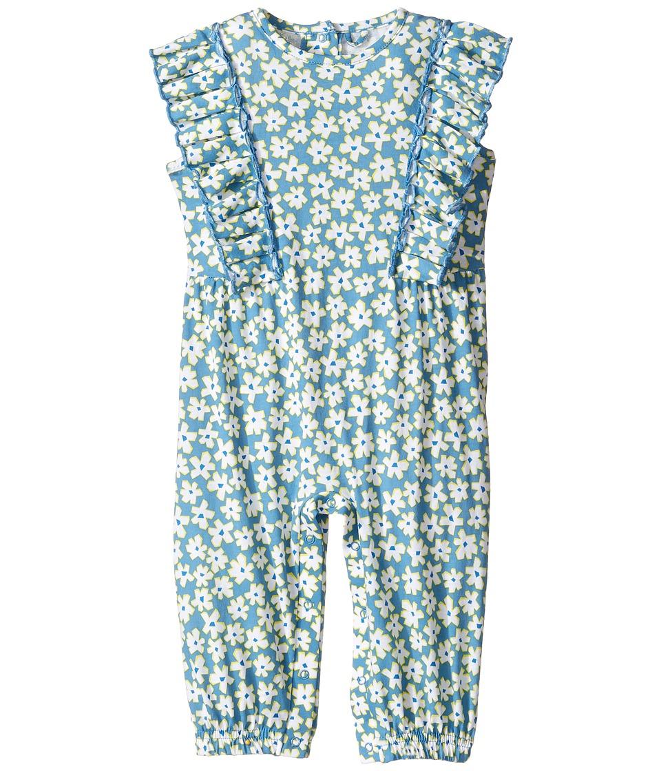 Stella McCartney Kids - Aurelia Daisy Print Romper (Infant) (Blue) Girl's Jumpsuit & Rompers One Piece