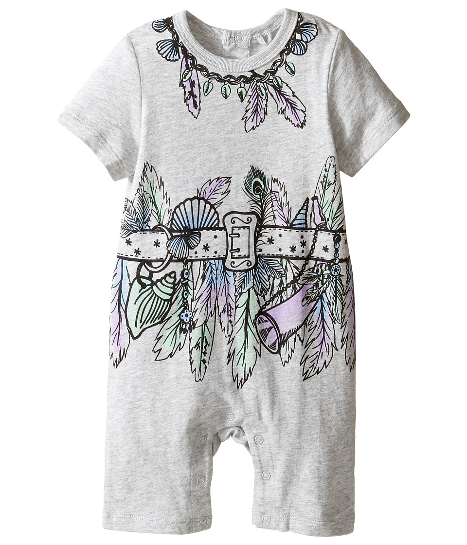 Stella McCartney Kids - Kit All-In-One with Feather and Belt Graphic (Infant) (Grey) Girl's Jumpsuit & Rompers One Piece