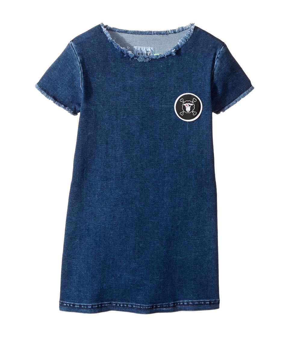 Nununu - Denim A Dress (Toddler/Little Kids) (Denim) Girl's Dress