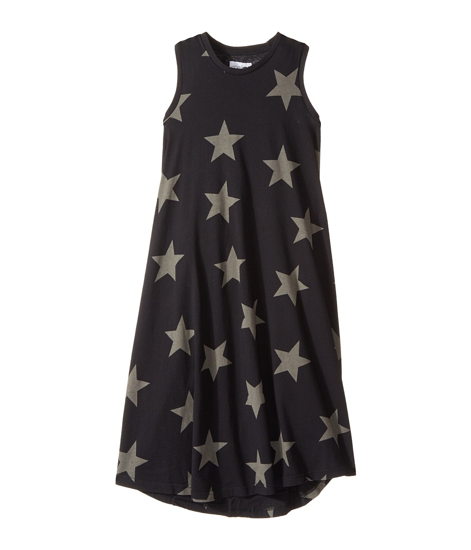 Nununu - 360 Maxi Star Dress (Toddler/Little Kids) (Black) Girl's Dress