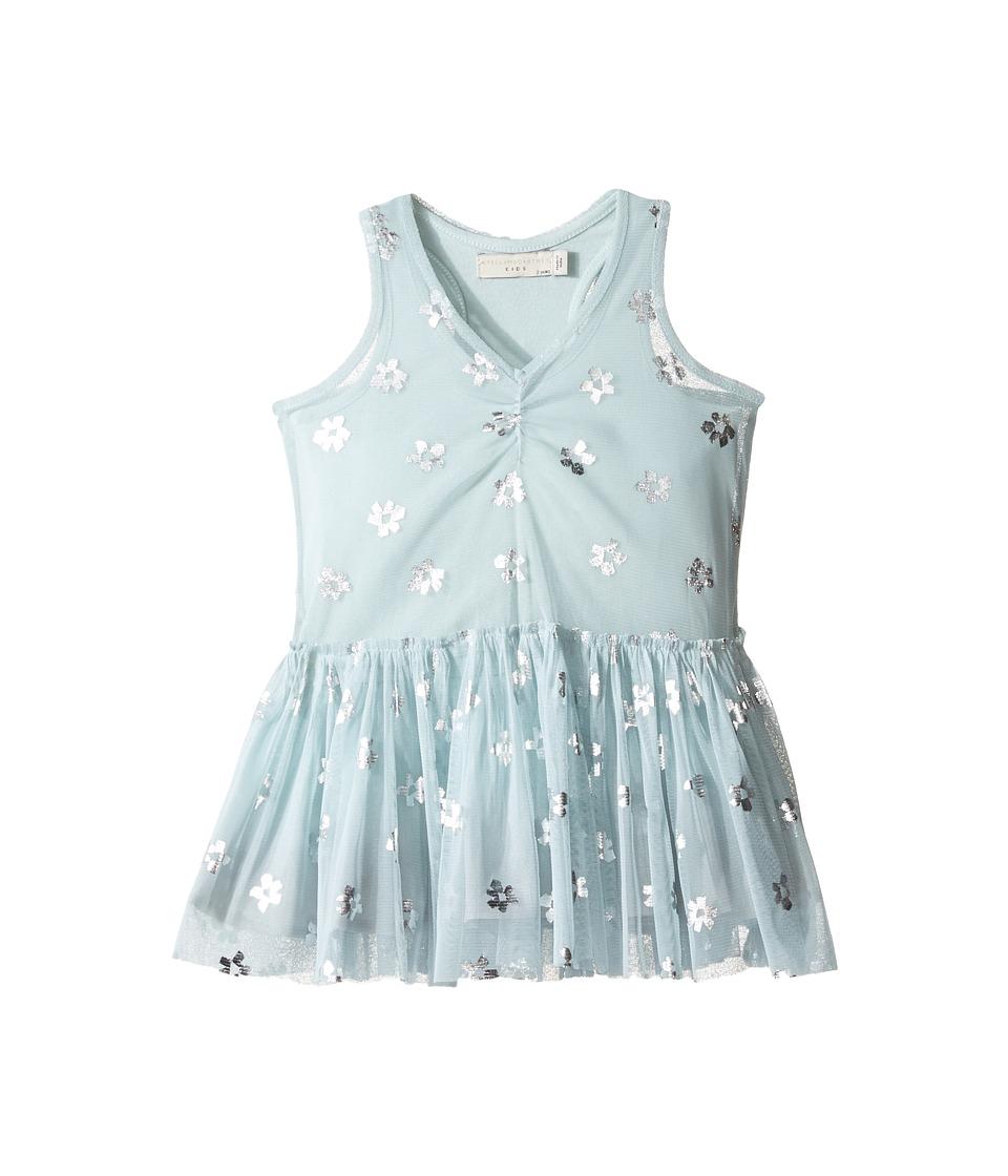 Stella McCartney Kids - Bell Tulle Dress with Metallic Daisy Print (Toddler/Little Kids/Big Kids) (Mint Blue) Girl's Dress