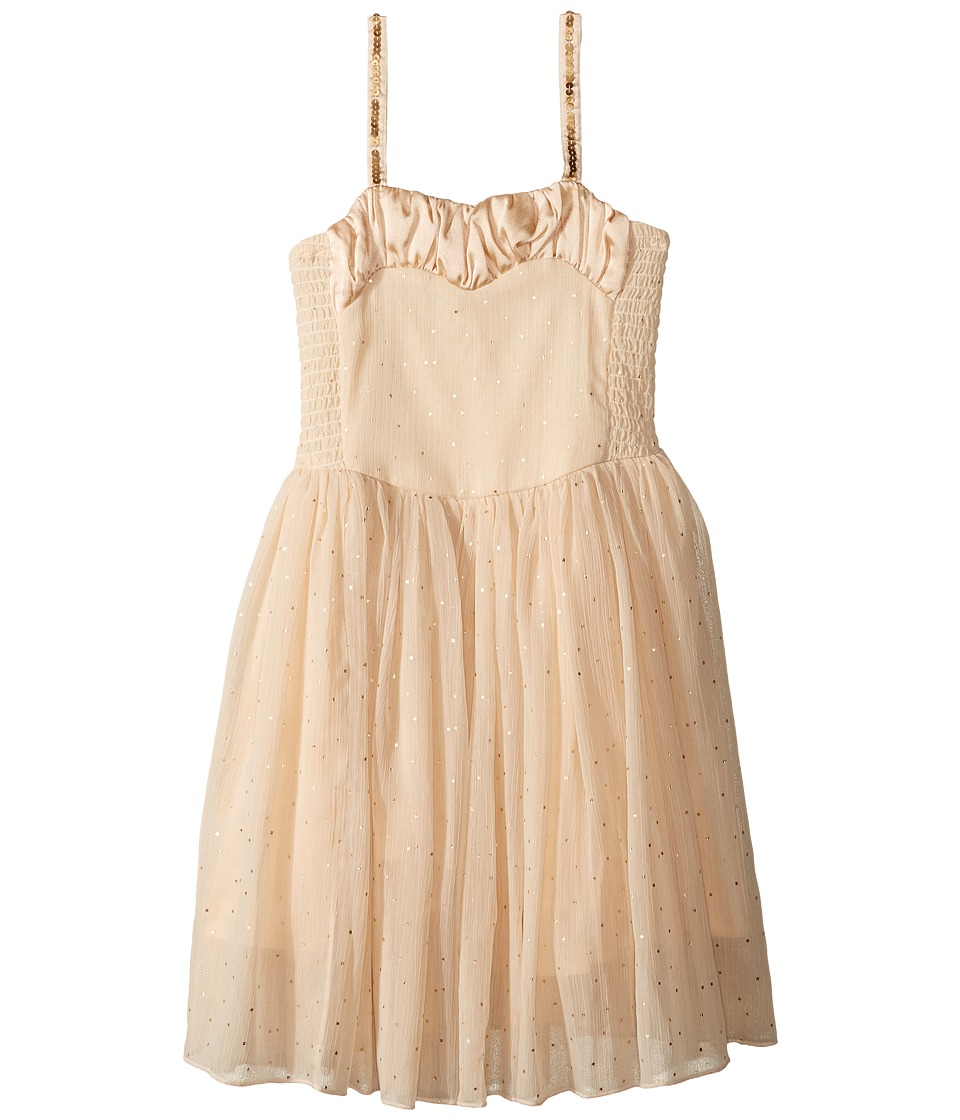 Stella McCartney Kids - Sweetie Dress w/ Gold Polka Dots Sequined Straps (Toddler/Little Kids/Big Kids) (Beige) Girl's Dress