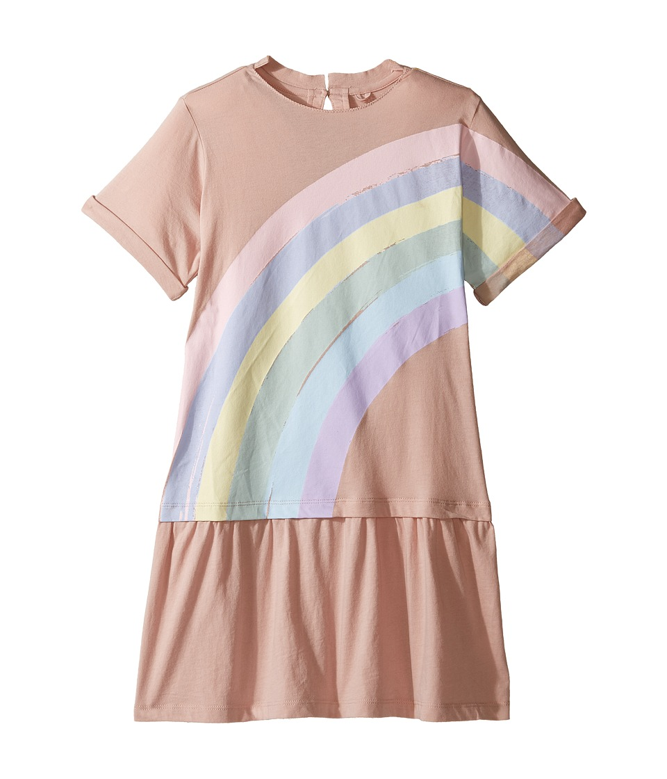Stella McCartney Kids - Jess Drop Waist Rainbow Dress (Toddler/Little Kids/Big Kids) (Pink) Girl's Dress