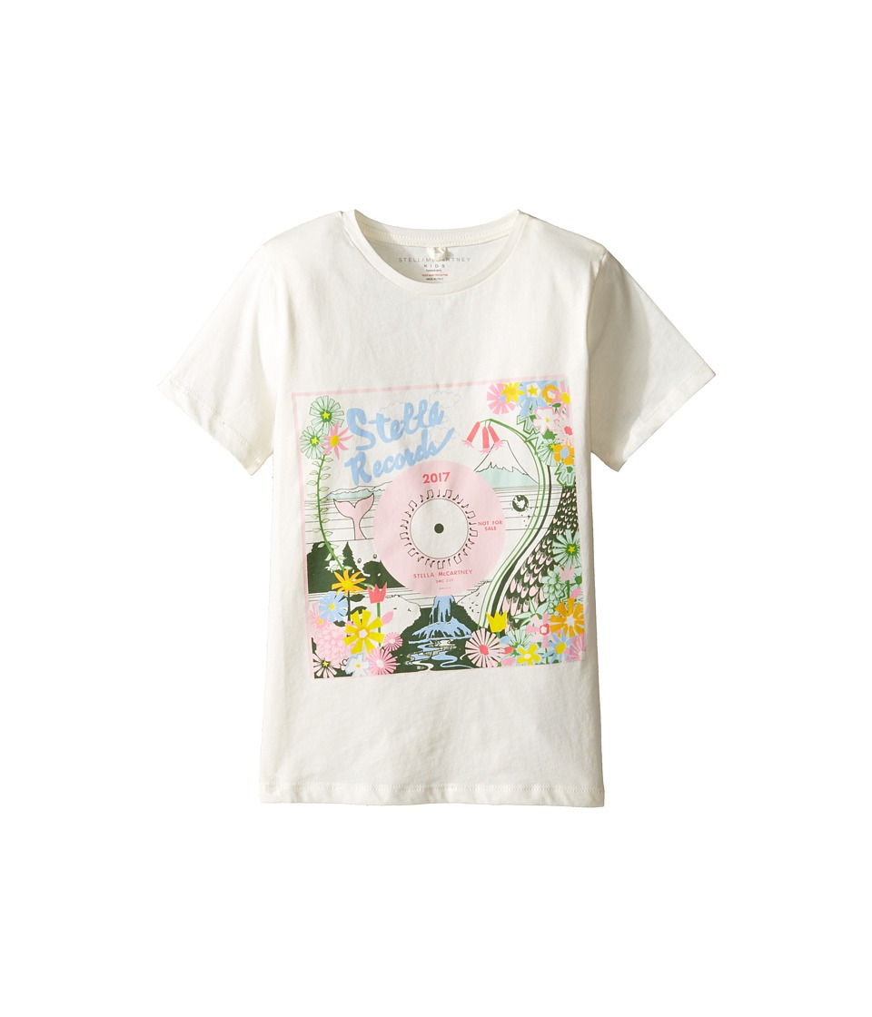 Stella McCartney Kids - Arlow Floral 'Stella Records' Tee (Toddler/Little Kids/Big Kids) (Cream) Girl's T Shirt