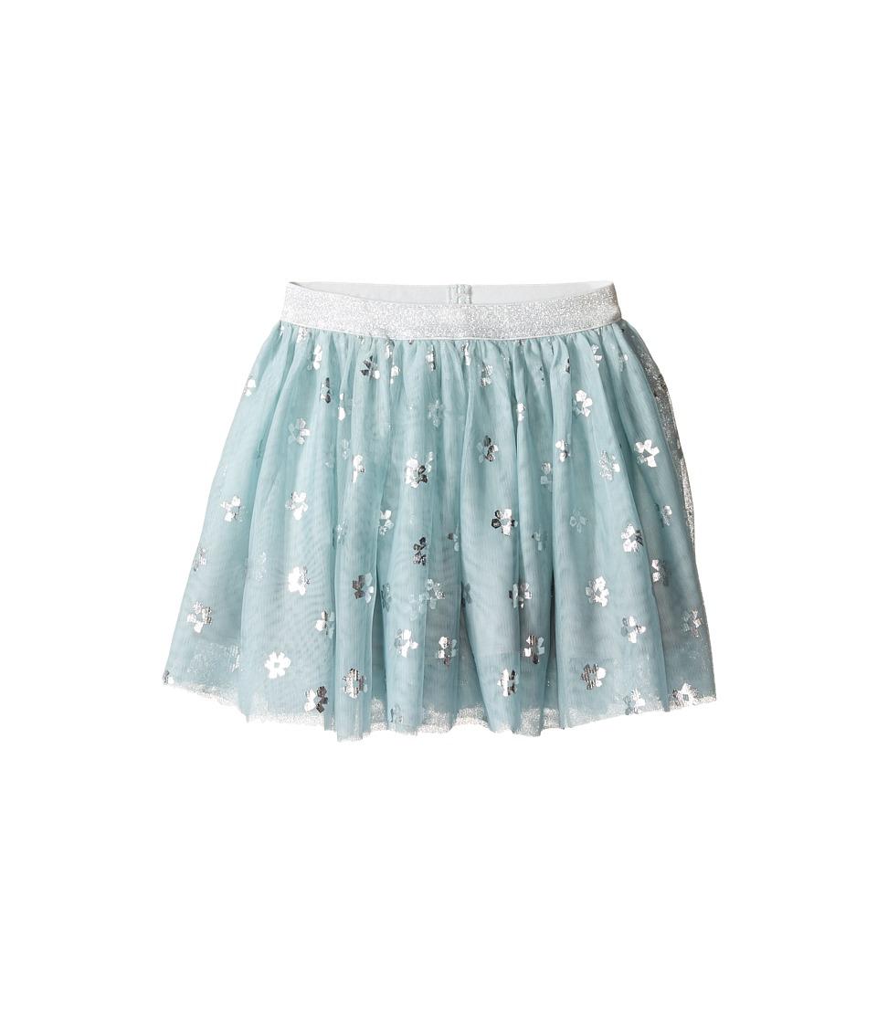 Stella McCartney Kids - Honey Tulle Skirt with Metallic Daisy Print (Toddler/Little Kids/Big Kids) (Mint Blue) Girl's Skirt