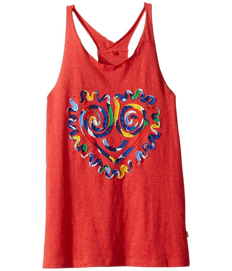 Stella McCartney Kids - Rosalee Swirly Heart Face Tank Top (Toddler/Little Kids/Big Kids) (Red) Girl's Sleeveless
