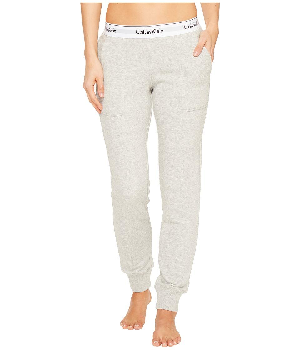 Calvin Klein Underwear - Modern Cotton Line Extension Bottom Jogger Pants (Grey Heather) Women's Casual Pants