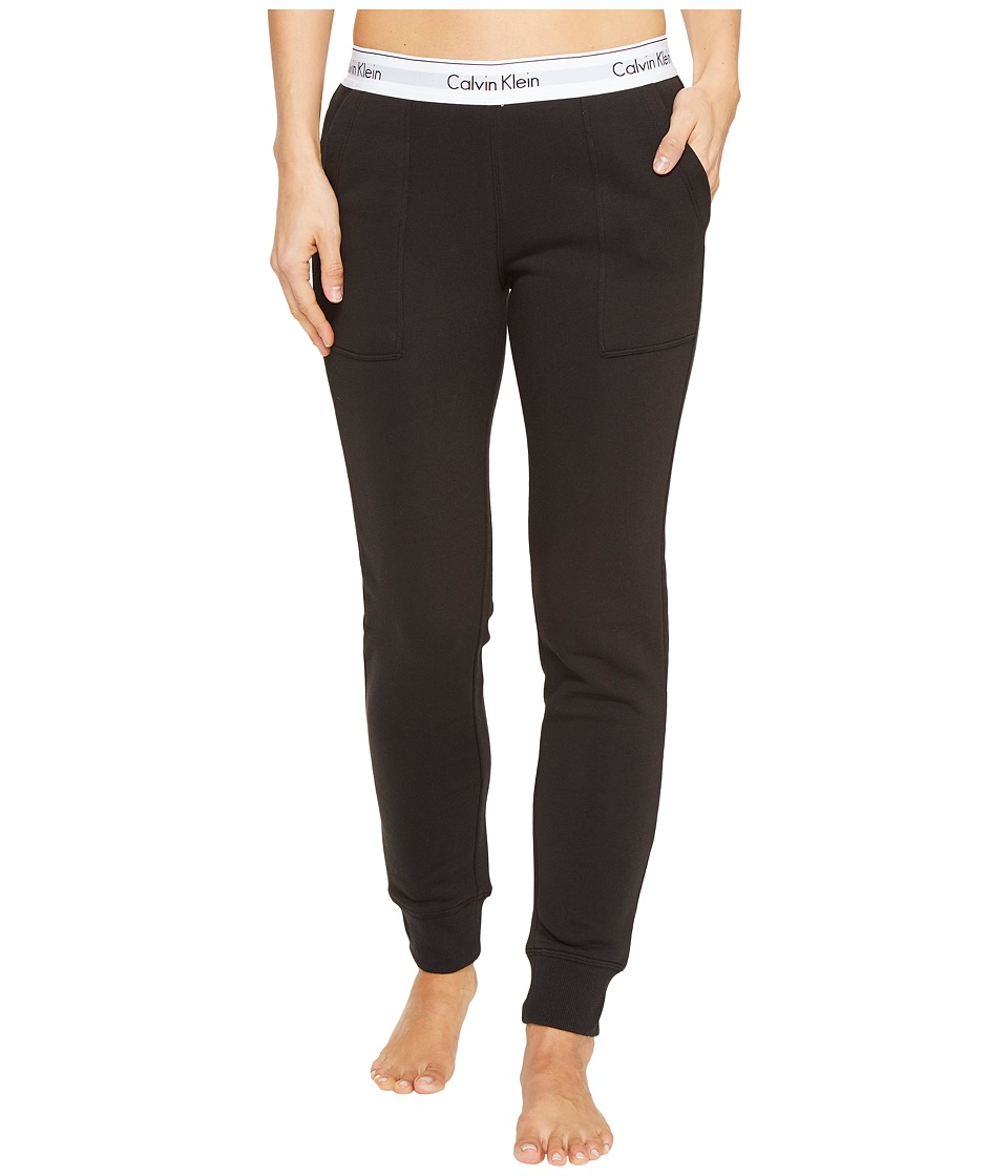 Calvin Klein Underwear - Modern Cotton Line Extension Bottom Jogger Pants (Black) Women's Casual Pants