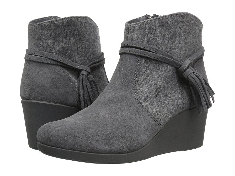 Crocs - Leigh Suede Mix Bootie (Slate Grey) Women's Boots