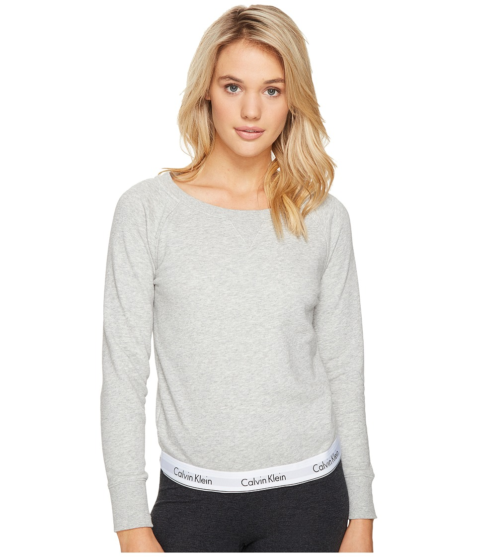 Calvin Klein Underwear - Modern Cotton Line Extension Top Long Sleeve Sweatshirt (Grey Heather) Women's Sweatshirt