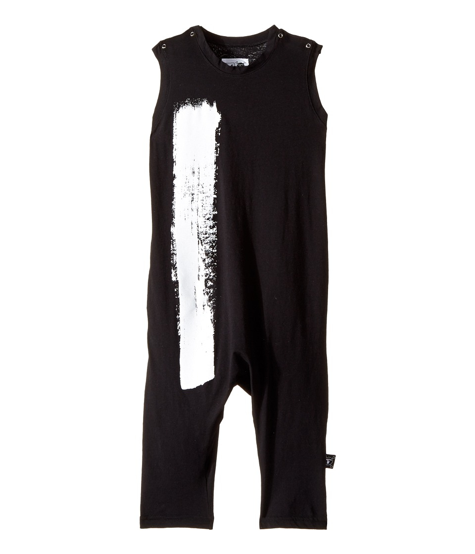 Nununu - Brush Stroke Overall (Toddler/Little Kids) (Black) Kid's Overalls One Piece