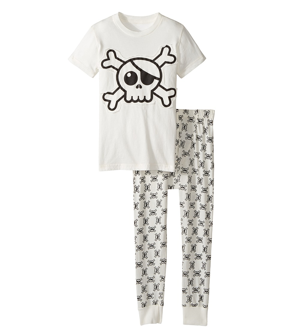 Nununu - Skull Loungewear (Infant/Toddler/Little Kids) (White) Kid's Pajama Sets
