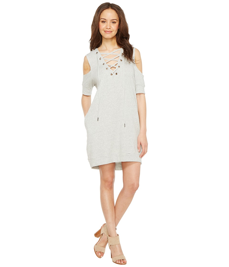 Blank NYC - Sweatshirt Dress with Lace Detailing in Negative Space (Negative Space) Women's Dress