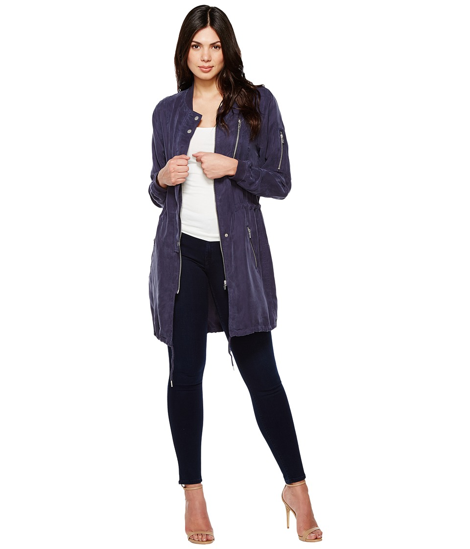 Blank NYC - Long Bomber Jacket in In The Navy (In The Navy) Women's Coat