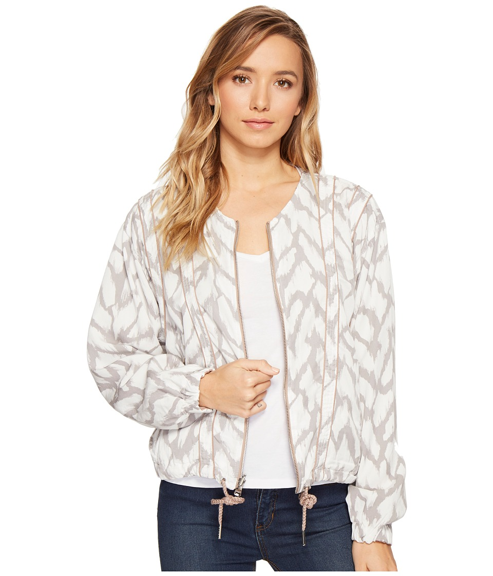 Blank NYC - Printed and Solid Rayon Tencil Jacket in Deep Truth (Deep Truth) Women's Coat