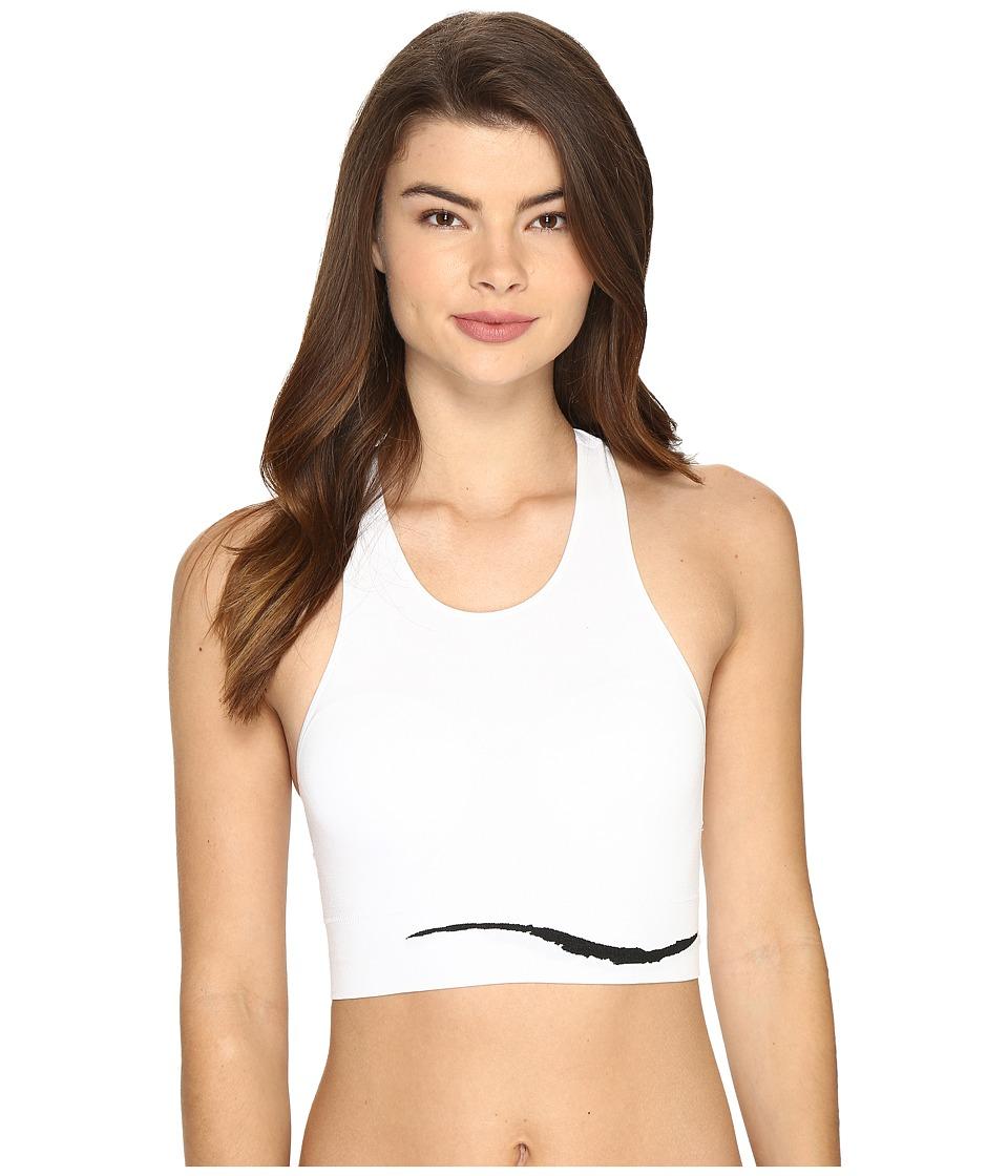 Jockey - Sporties Wave Crop Top (White) Women's Underwear