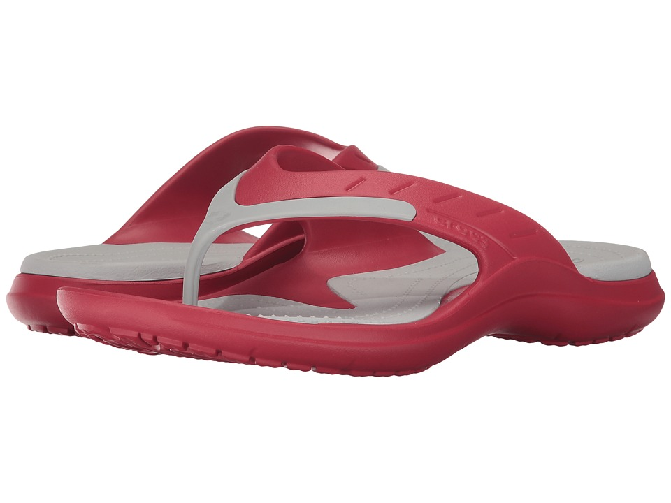 Crocs - Modi Sport Flip (Pepper/Pearl White) Slide Shoes