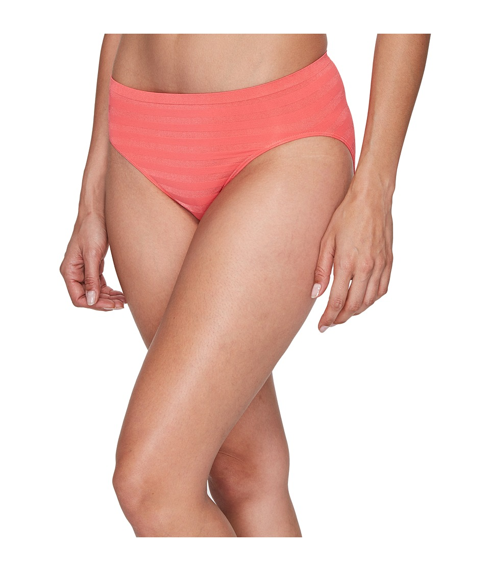 Jockey - Comfies Matte Shine Hi Cut (Sunkissed Pink) Women's Underwear