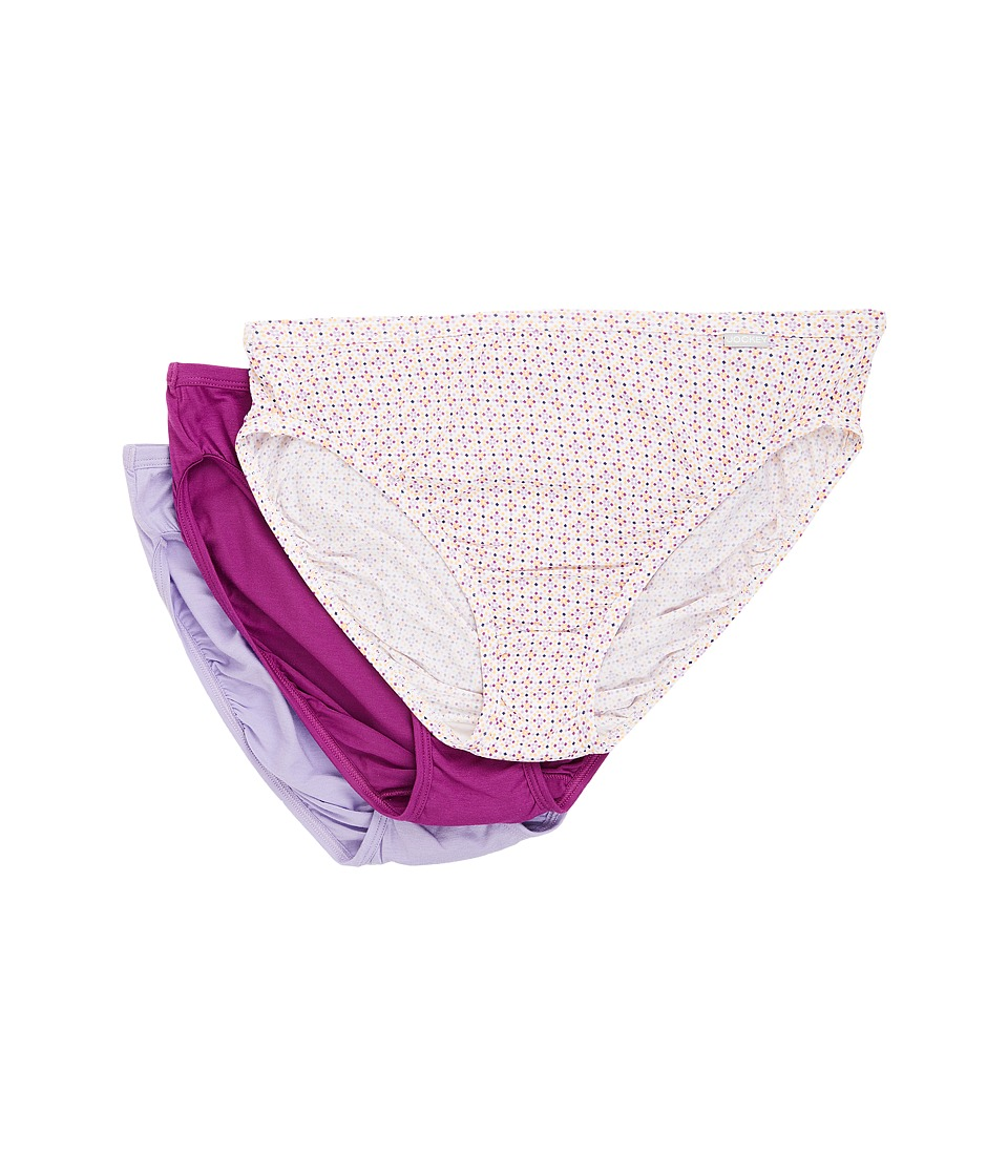 Jockey - Elance Supersoft French Cut 3-Pack (Soft Tile/Red Violet/Petal) Women's Underwear