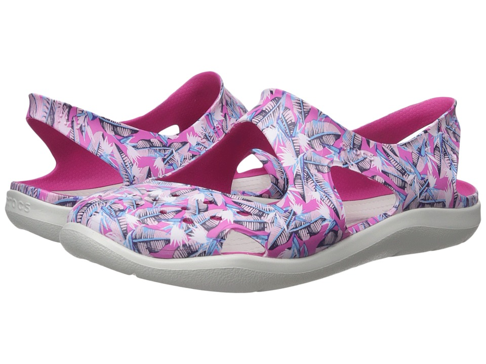Crocs - Swiftwater Wave Graphic (Candy Pink) Women's Sandals