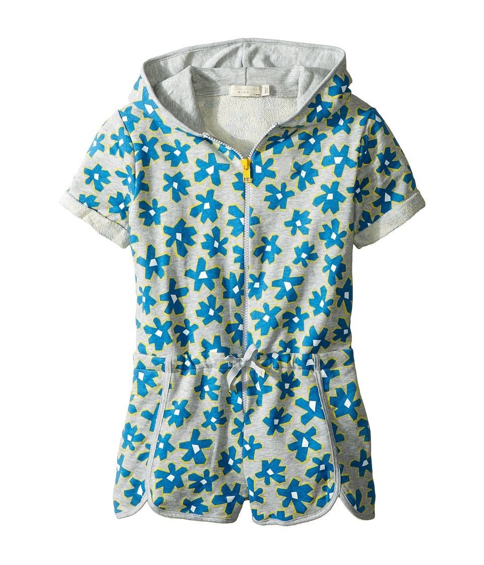 Stella McCartney Kids - Amaya Daisy Print Zip-Up Shorts Romper (Toddler/Little Kids/Big Kids) (Grey) Girl's Jumpsuit & Rompers One Piece