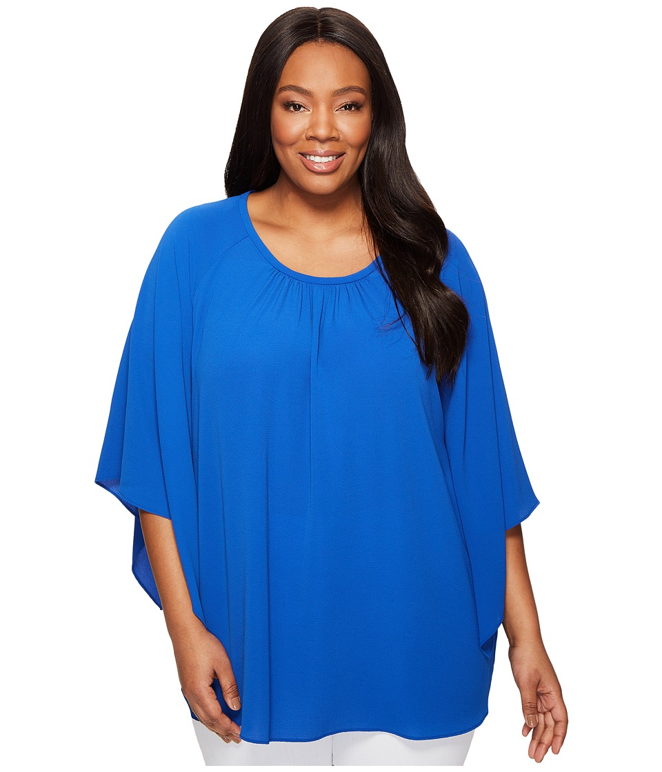 Vince Camuto Specialty Size - Plus Size Kimono Sleeve Blouse (Core Blue) Women's Blouse