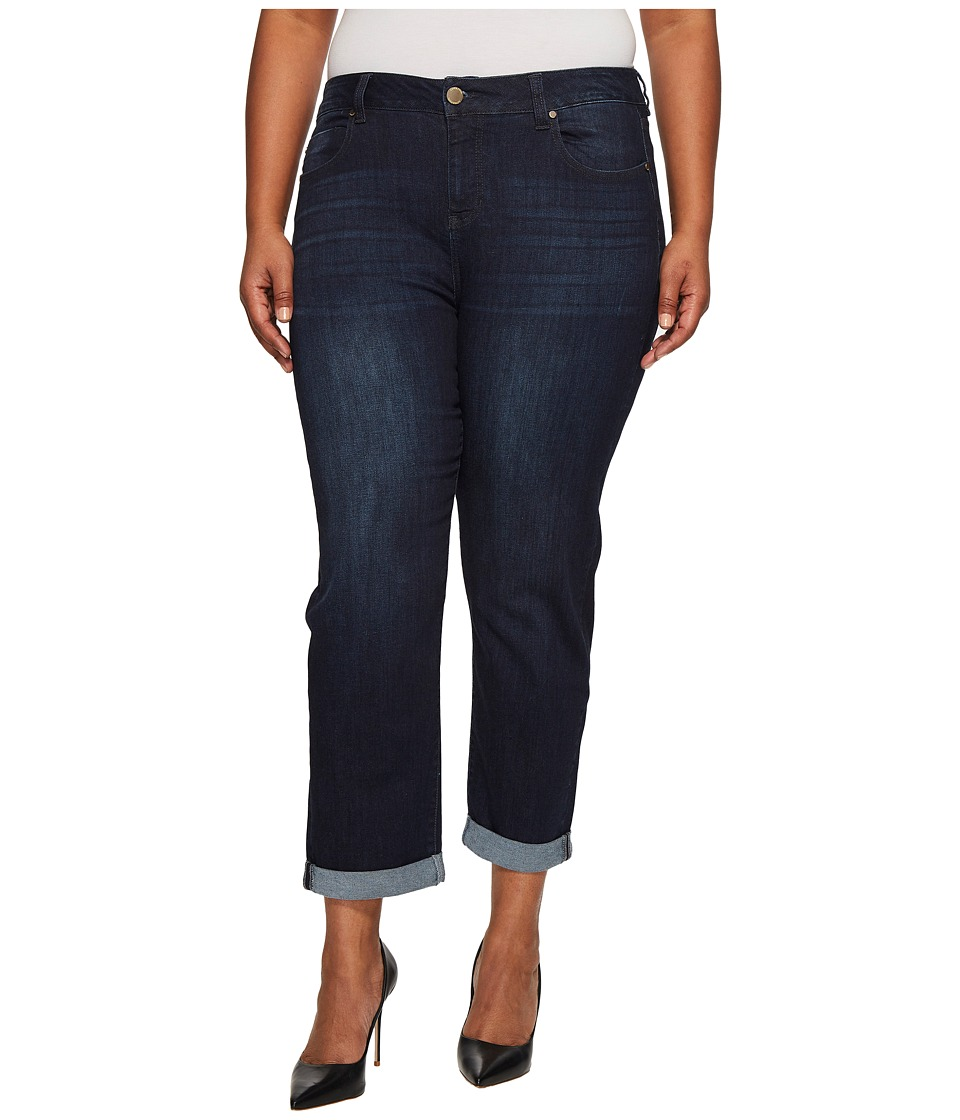 Liverpool - Plus Size Peyton Slim Boyfriend on Vintage Super Comfort Stretch Denim in Vintage Super Dark (Vintage Super Dark) Women's Jeans