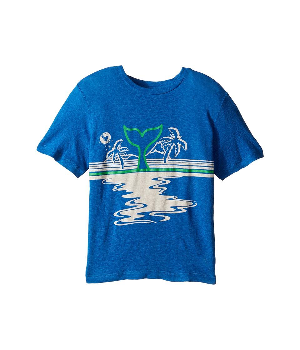 Stella McCartney Kids - Arrow Beach Whale Lightweight Tee (Toddler/Little Kids/Big Kids) (Blue) Boy's T Shirt