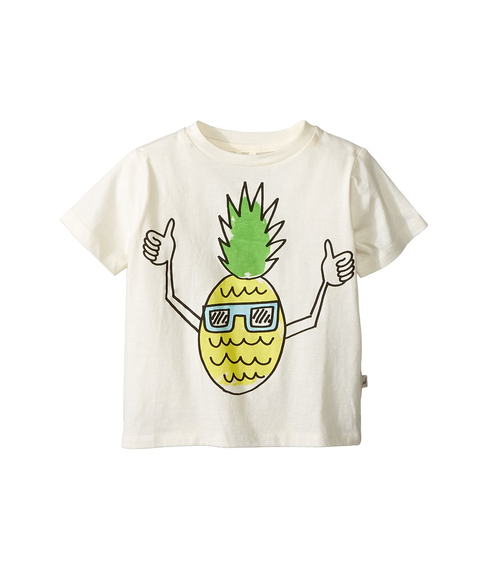 Stella McCartney Kids - Arlo Pineapple with Sunglasses Tee (Toddler/Little Kids/Big Kids) (Cream) Boy's T Shirt