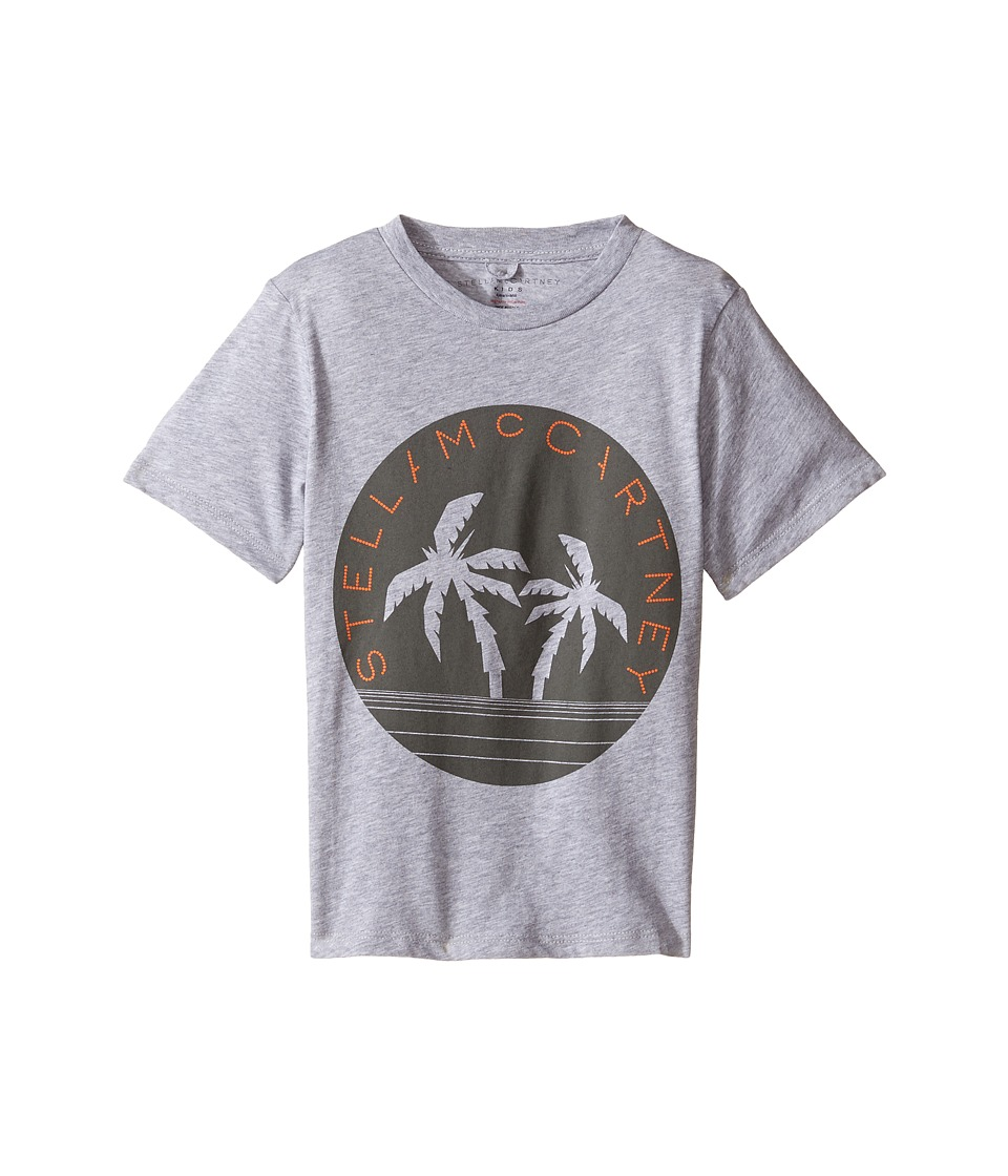 Stella McCartney Kids - Arrow Logo Tee with Palm Trees (Toddler/Little Kids/Big Kids) (Grey) Boy's T Shirt