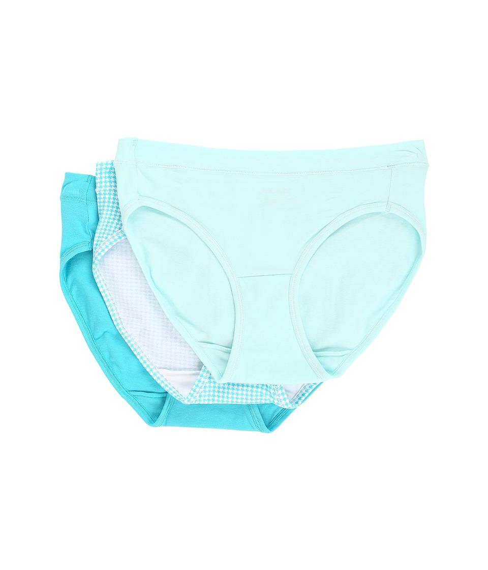 Jockey - Elance Stretch Bikini (Icy Teal/Houndstooth/Tropical Teal) Women's Underwear