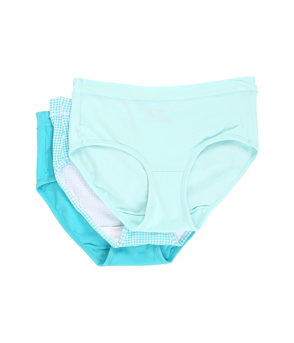 Jockey - Elance Stretch Hipster - 3 Pack (Ballet Pink/Fan Flower/Admiral Blue) Women's Underwear