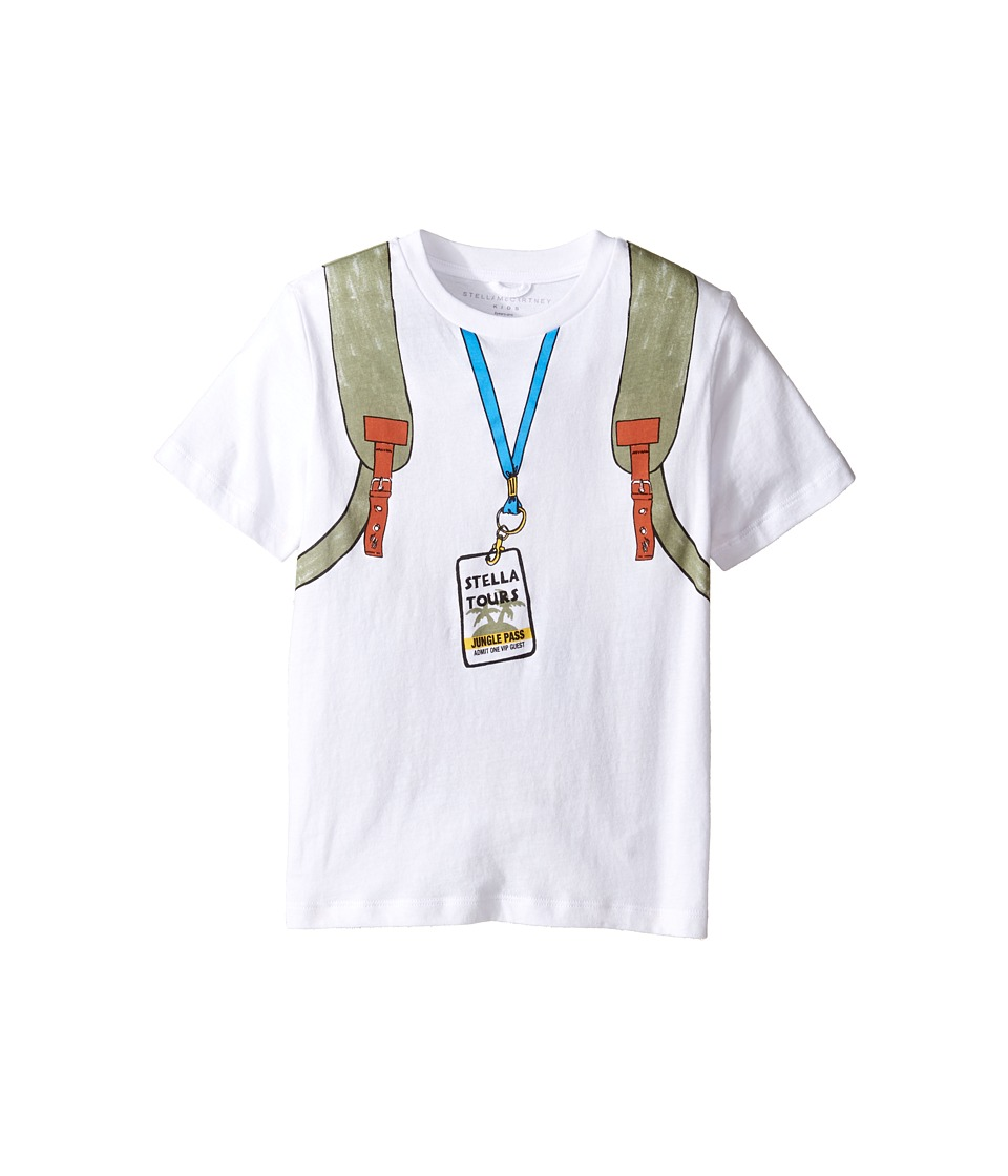 Stella McCartney Kids - Arrow Explorer Backpack Tee with Zip Detail (Toddler/Little Kids/Big Kids) (White) Boy's T Shirt