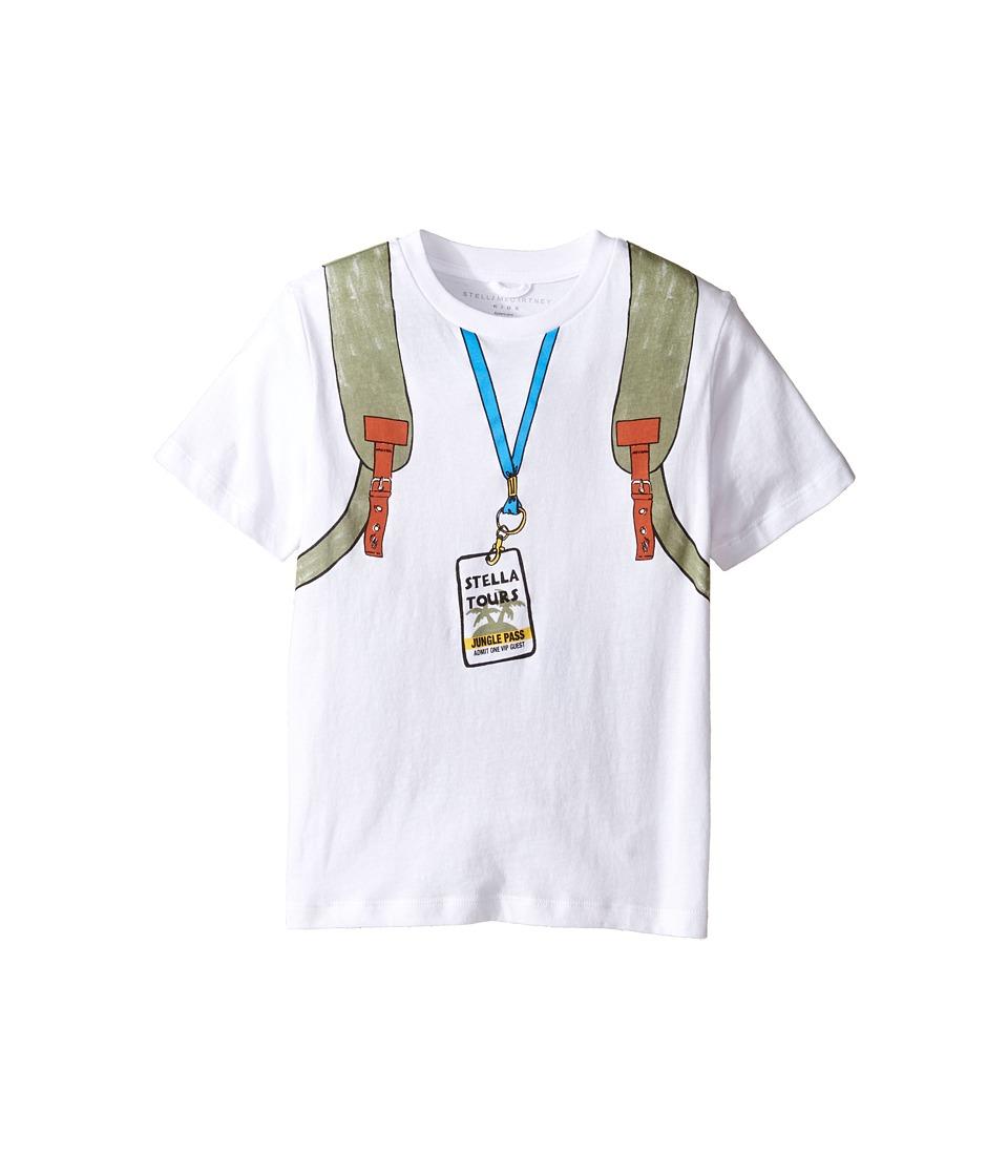 Stella McCartney Kids - Arrow Explorer Backpack Tee with Zip Detail (Toddler/Little Kids/Big Kids) (White) Boy's T Shirt