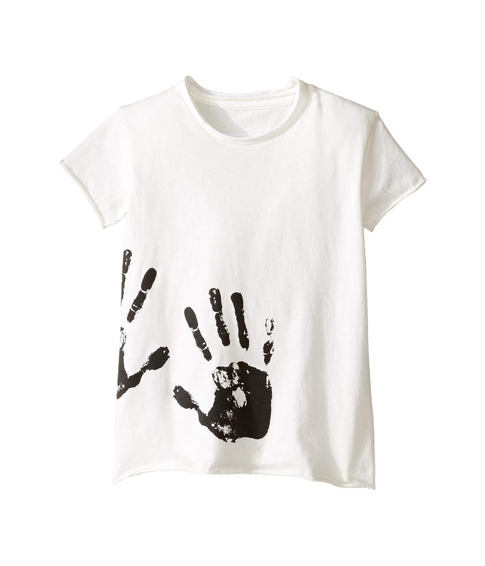 Nununu - Hand Print Raw T-Shirt (Infant/Toddler/Little Kids) (White) Kid's T Shirt