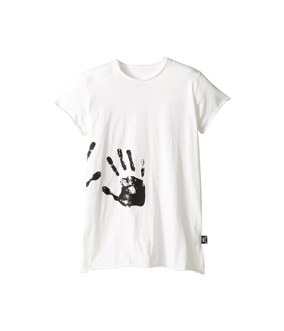 Nununu - Hand Print Raw T-Shirt (Little Kids/Big Kids) (White) Kid's T Shirt