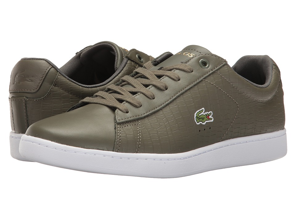 Lacoste - Carnaby EVO G117 4 (Khaki/Khaki) Men's Shoes