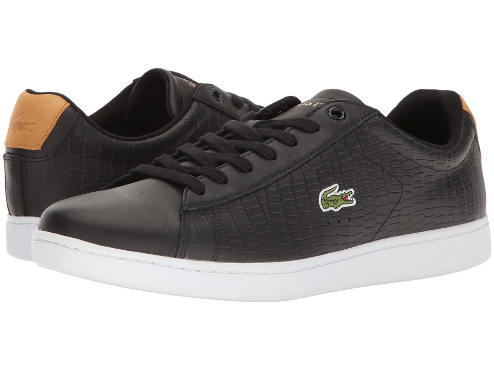 Lacoste Carnaby EVO G117 1 (Black/Tan) Men